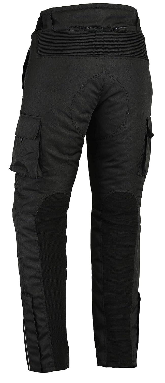 /Resistente al Agua/ /Cordura /& Spandex/ /Protectores Despu/és de CE 1621/ Bikers Gear UK Motocicleta de Pantalones Cargo/ /1/ /Negro