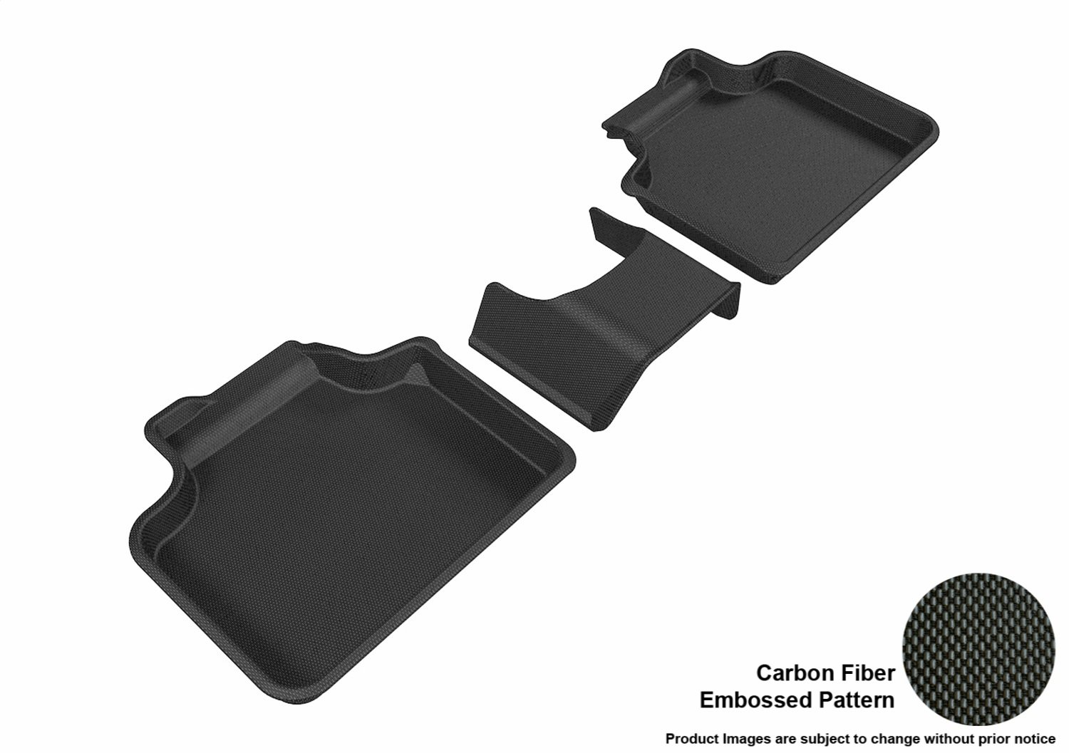 Kagu Rubber Gray 3D MAXpider Front Row Custom Fit All-Weather Floor Mat for Select Mini Countryman Models
