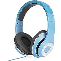 AUSDOM Cuffie per bambini, Ausdom bambini portatili Over-ear cuffia, auricolari di controllo di volume costruita in Mic, (morbidi cuscinetti, archetto regolabile) Blu