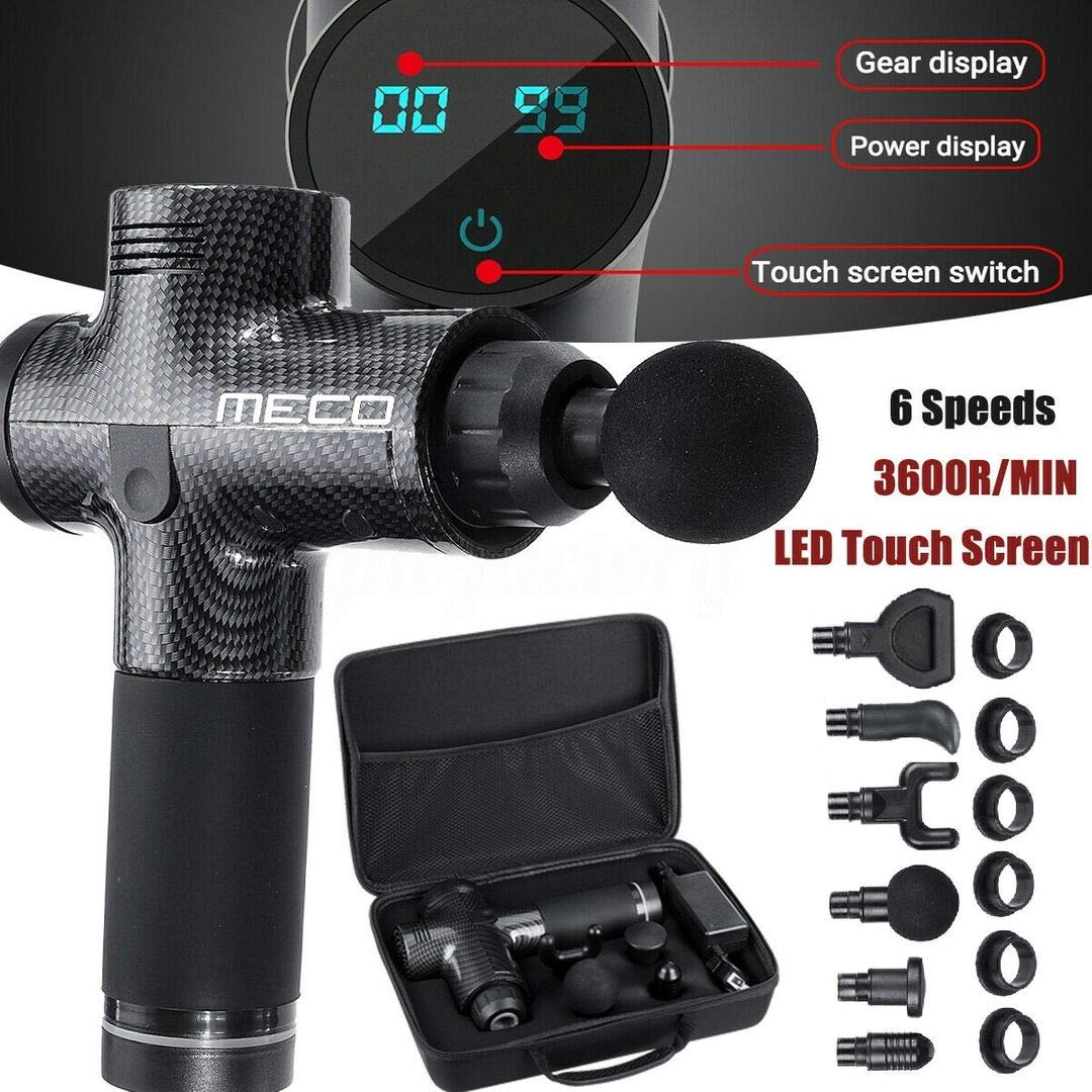 MECO 20 Speed LED Touch Screen Muscle Massage Gun 2500mAH