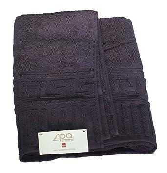 Spa by Espalma frontera griego clave Toalla de baño, negro, 100% algodón,