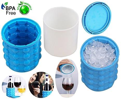 Ice Genie Cube Maker Cubitera de hielo de silicona moldes de cubitos de hielo ahorro de