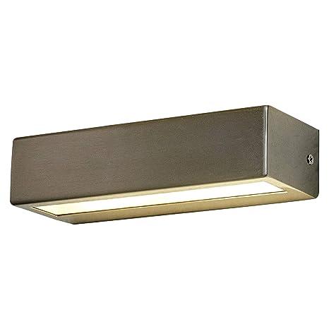 Led Applique Extérieurpatrica Moderne En Gris En Inox 1 Lampeà