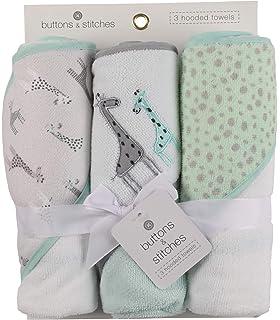 Amazon.com: Buttons and Stitches - Toalla con capucha para ...
