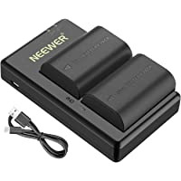 Neewer LP-E6 LP-E6N Rechargeable Battery Charging Set for Canon (2-Pack 2000mAh Camera Batteries and Micro USB Input Dual Charger, 100% Compatible with Original, Safety Protections)