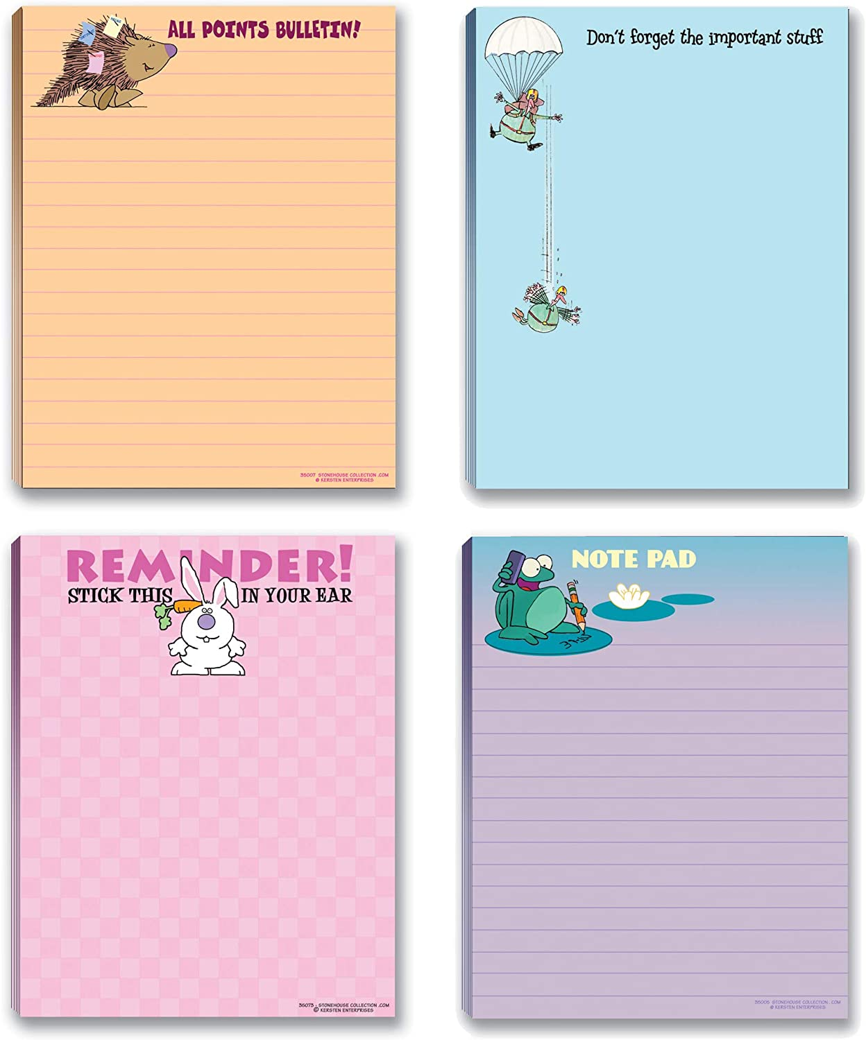 Funny Notepad Assorted Pack - Small Gift Idea - 4 Funny Notepads - Funny Office Supplies (Funny #5)