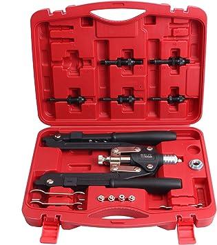 Hebel Nietzange für Nietmuttern M5-12 /& Blindnieten bis 6,4mm Blindnietzange Set