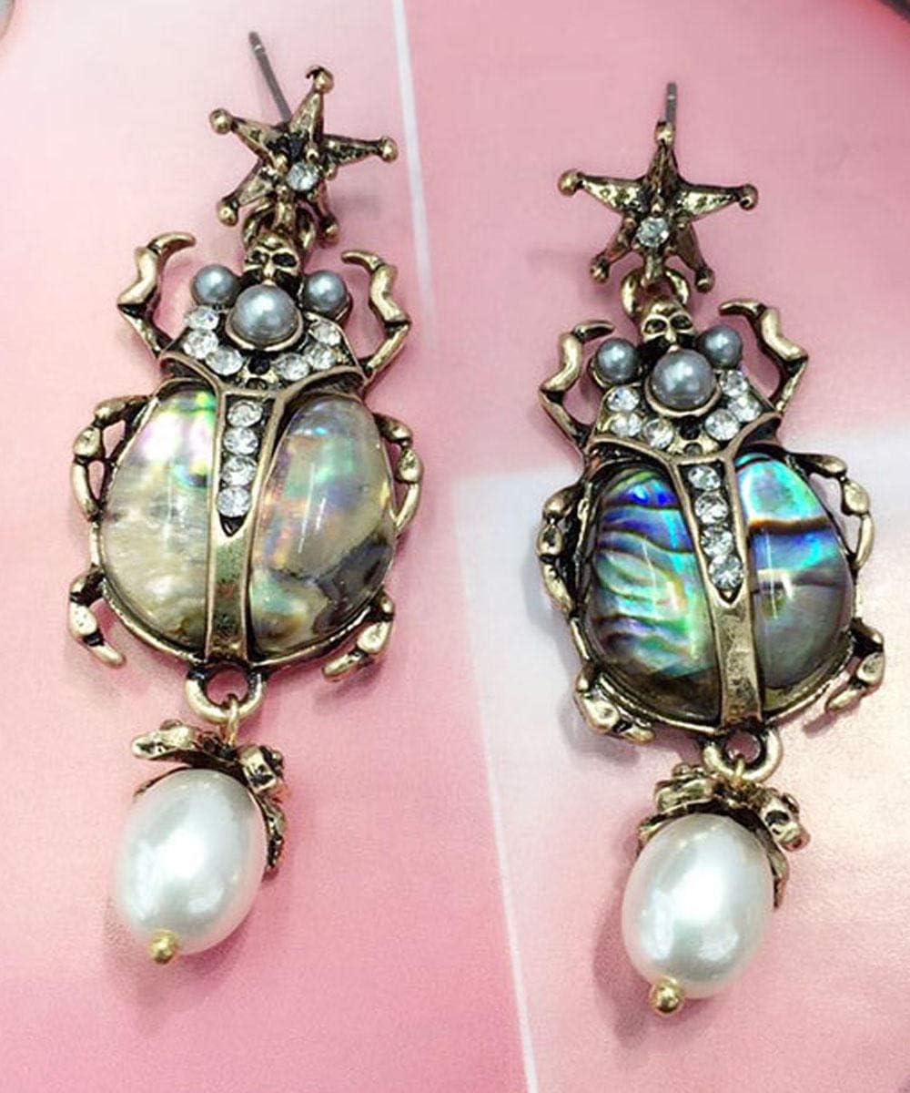 Erin Joyas Yayi Pendientes De Cristal Multicolor con Diamantes De Imitación De Cristal Pendientes De Mujer De Oro Antiguo Pendientes De Piedras Preciosas Animales Regalo