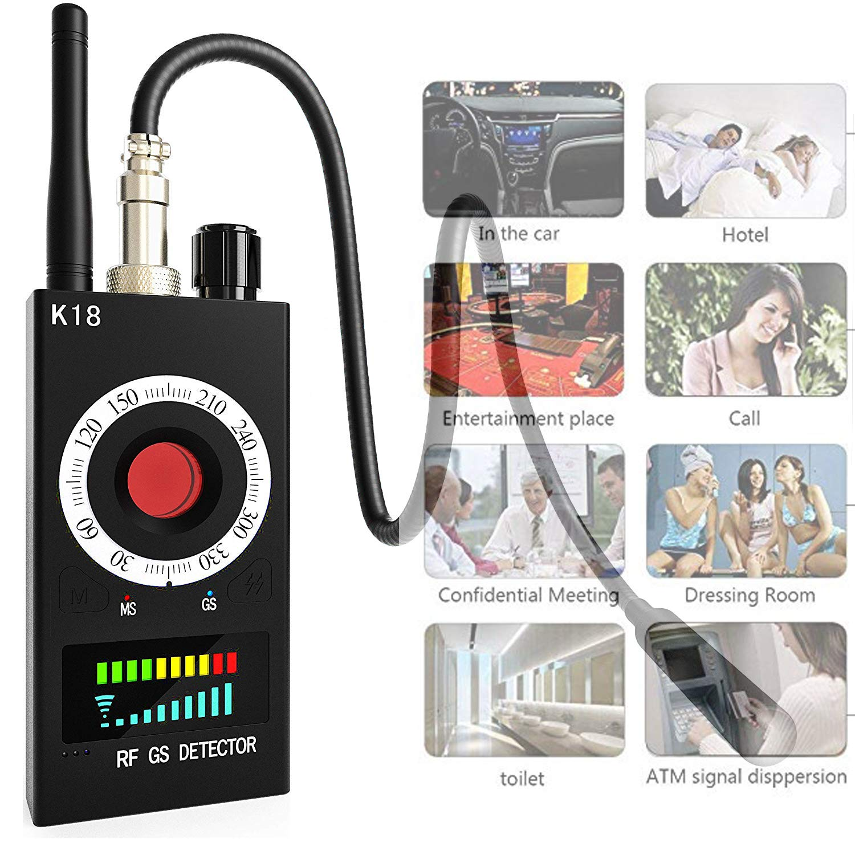 RF Signal Scanner Radio Anti-spy Hidden Camera Detector Wireless GSM Audio Bug Sweeper Finder GPS Tracker US Plug by SUCC