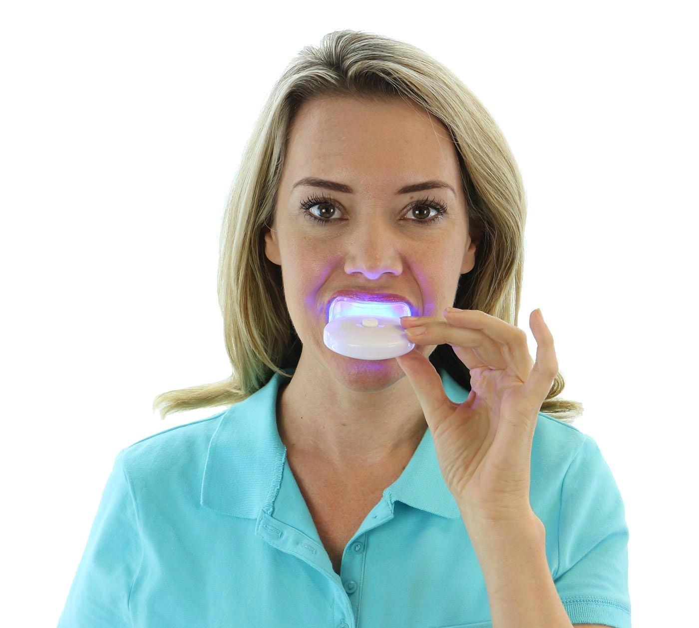 Amazoncom AuraGlow Teeth Whitening Kit LED Light Carbamide - 26 celebrity photos without teeth show keep