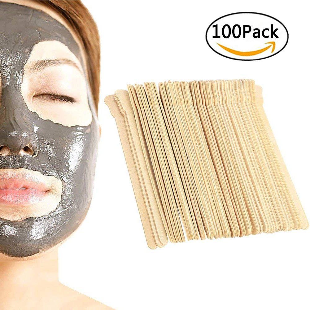 100 Packs Disposable Body Hair Removal Stick Wax Applicator Sticks Wooden Type:Wax Applicator Sticks