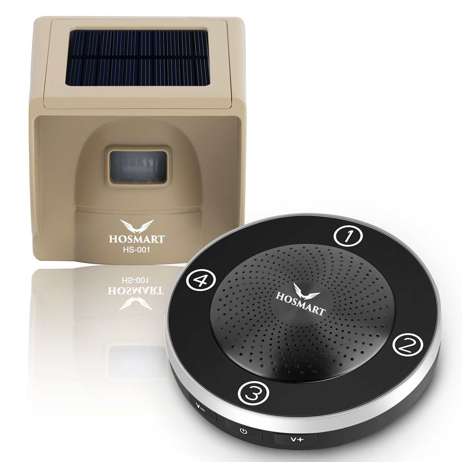 1/4 Mile Long Range Rechargable Solar Driveway Alarm Wireless Sensor System Driveway Sensor Alert System Weatherproof Security Outdoor Motion Sensor & Detector No Need Replace Batteries by Hosmart