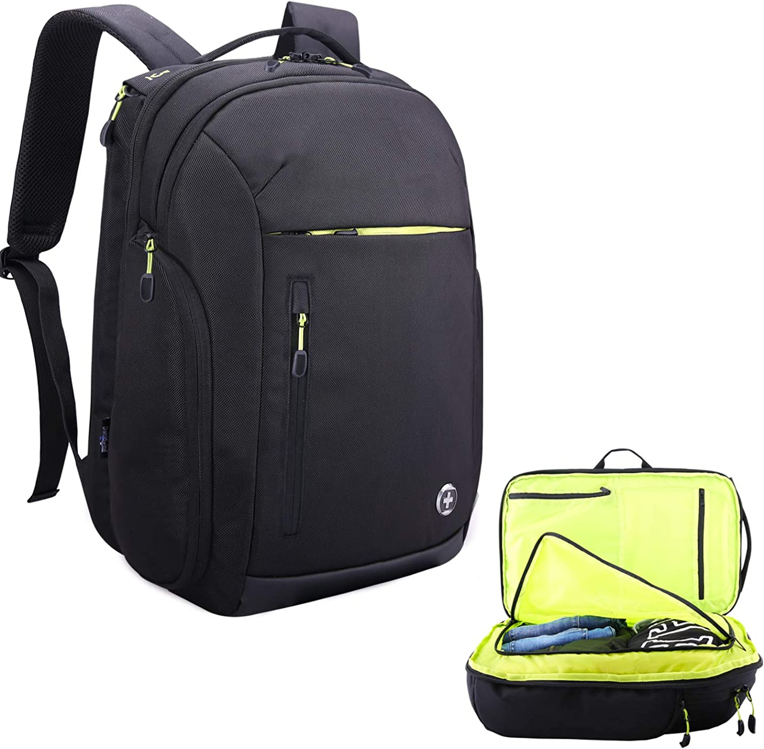 Large Travel 17in Laptop waterproof USB RFID Flight Approved Carry-On Backpack