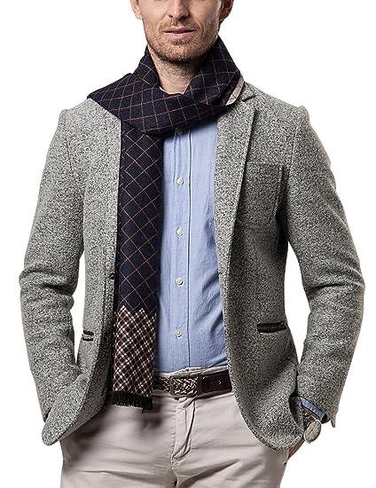 Shubb Echarpe à Carreaux Homme Chaude Classique en Cachemire d imitation  pour Hiver Epaisse Longue 8daf4ec307f