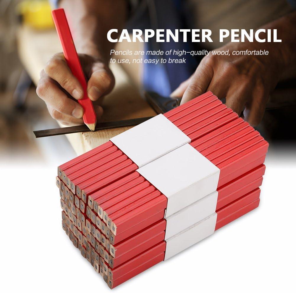 carpinteros constructores L/ápices de carpintero 72 l/ápices de carpintero octogonales de mina dura L/ápiz de carpintero mediano para marcar carpinter/ía comerciante
