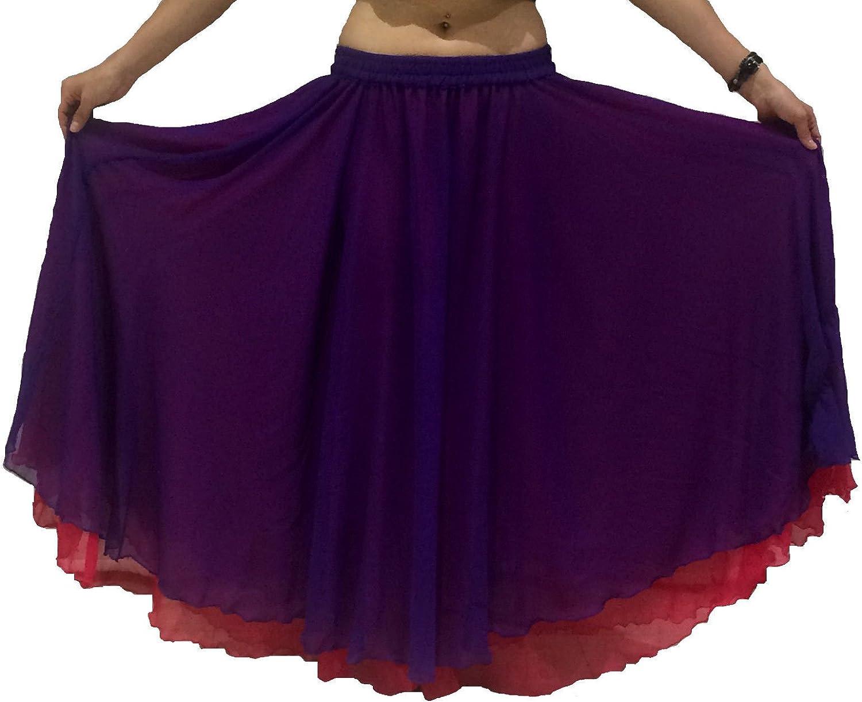 Dancers World Ltd (UK Seller) 2 Capa de Vientre Reversible Danza ...