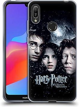 Oficial Harry Potter Ron, Harry & Hermione Poster 3 Prisoner of Azkaban IV Carcasa de Gel de Silicona Compatible con Huawei Y6 (2019)