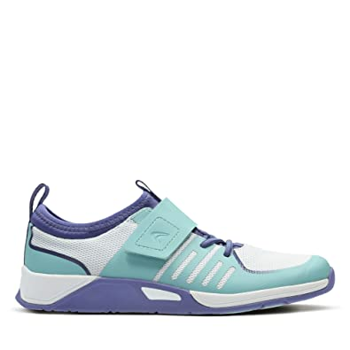 d8c9aa8ac7b3 Clarks Trace Cool Infant Synthetic Trainers In Aqua Combi Wide Fit Size  11½  Amazon.co.uk  Shoes   Bags