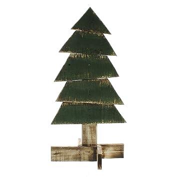 rustic wood plank evergreen tree statue 16 cottage christmas painted - Rustic Wood Christmas Tree