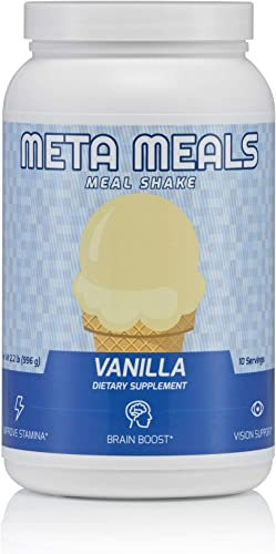 Meta Meals Vanilla Meal Shake Powder 996 Grams Per Tub – 10 Servings High-Protein, Low-Sugar