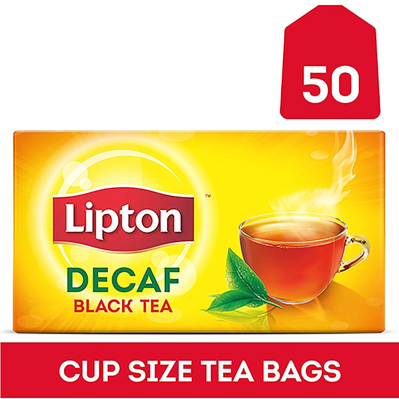 Lipton Black Tea Bags, Decaffeinated, 50 ct