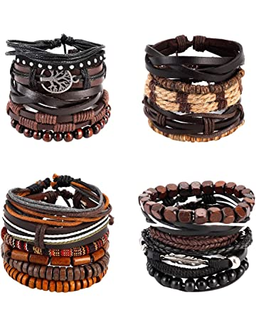 Contemporay Real Leather Braid with Magnetic Clasps for Men Women who Love The Great Outdoors anf Fashion Boings Unisex Bracelets