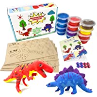 UNGLINGA Create Your Own Air Dry Clay Dinosaur Figures Kids Arts and Crafts Toys Boys Girls Gifts for Age 5 -12 Year Old…