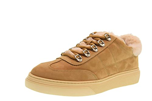 hogan scarpe donna sneakers basse con pelliccia