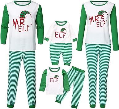 Pijamas de Navidad Familiar - MR Mrs Elf Conjunto Dos Piezas ...