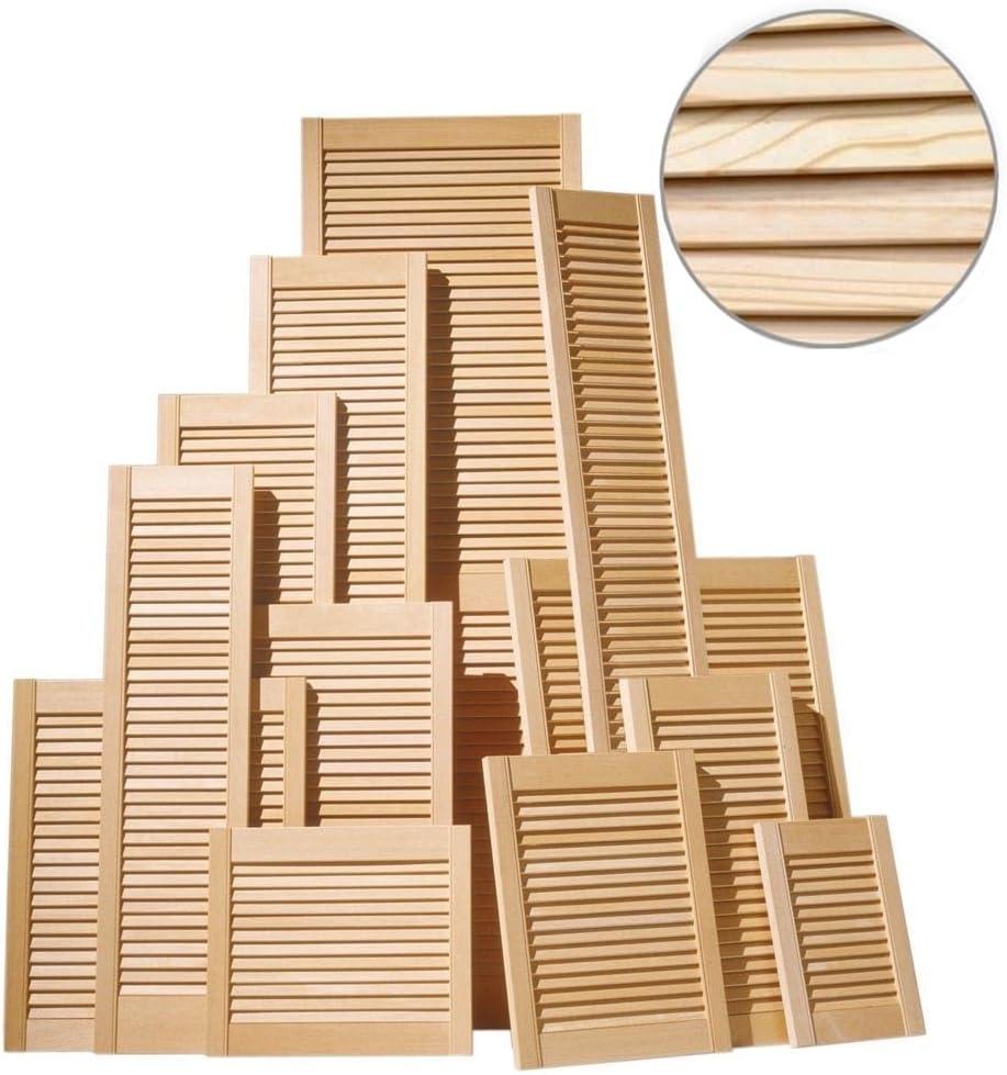 Porte Persienne En Bois De Pin Placard D Obturation A Lattes Aerees En Bois 28 Mm Profondeur Simple Amazon Fr Bricolage