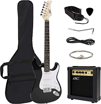 Guitarra eléctrica azul de tamaño completo con amplificador ...
