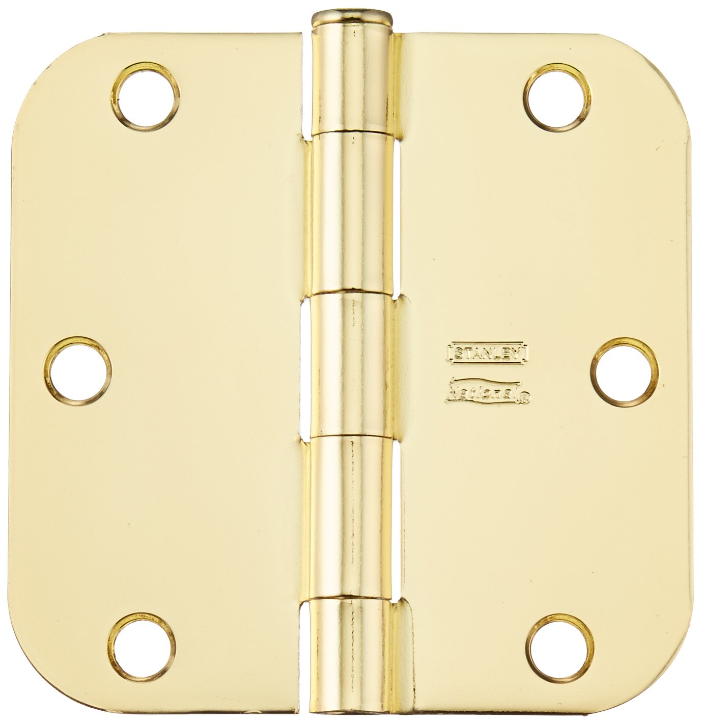 Stanley Hardware S082-482 RD758 Residential Hinge in Bright Brass 2 Pack