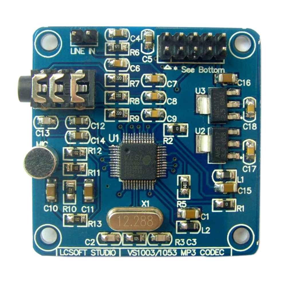 Ben-gi VS1053 MP3 12.228Mhz Quarzoszillator Audio-Decodierungsmodul mit Aufnahmefunktion Demoboard Vorstand
