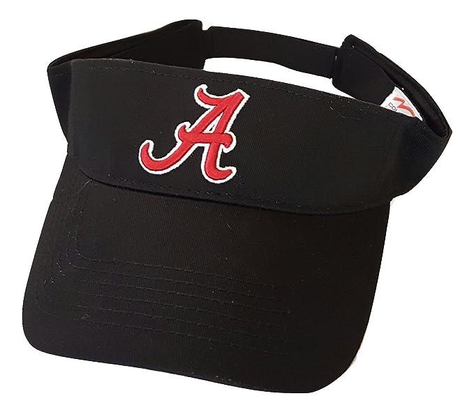 e1d032bd9c4ae Alabama Crimson Tide Adult Team Logo Black Visor