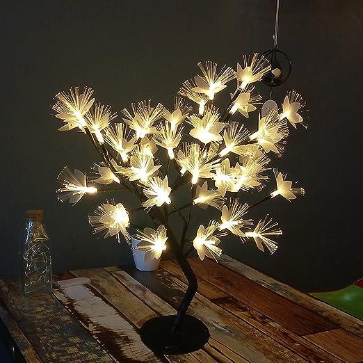 Petit Arbre Fleurs Table Lampe Led Petite Lampe Pour Filles Chambre