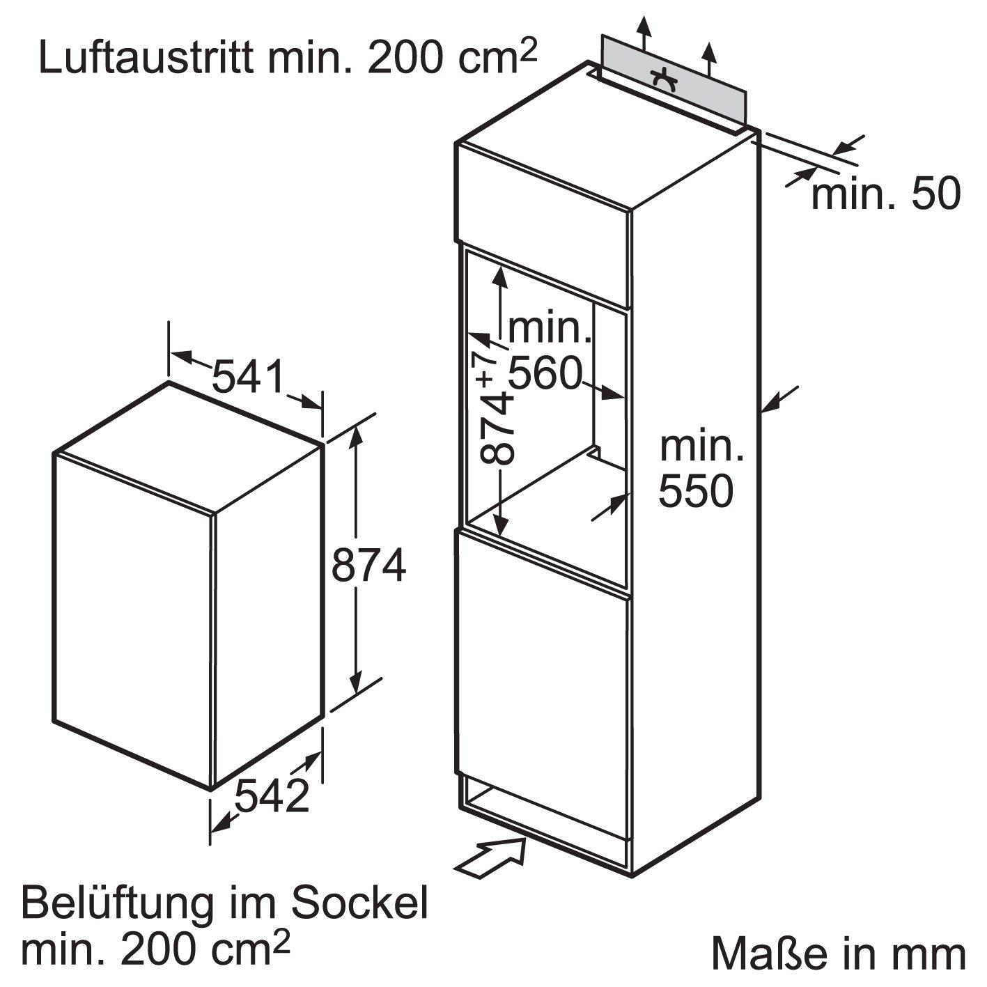 Siemens KI18RA65 Einbau-Kühlschrank / A++ / Kühlen: 155 L ...