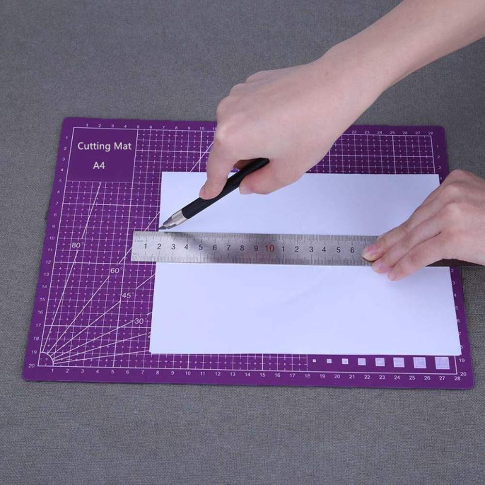 AukCherie Professional A4 Self-Healing, Double-Sided Cutting Mat, Rotary Blade Compatible for Sewing, Quilting, Arts & Crafts