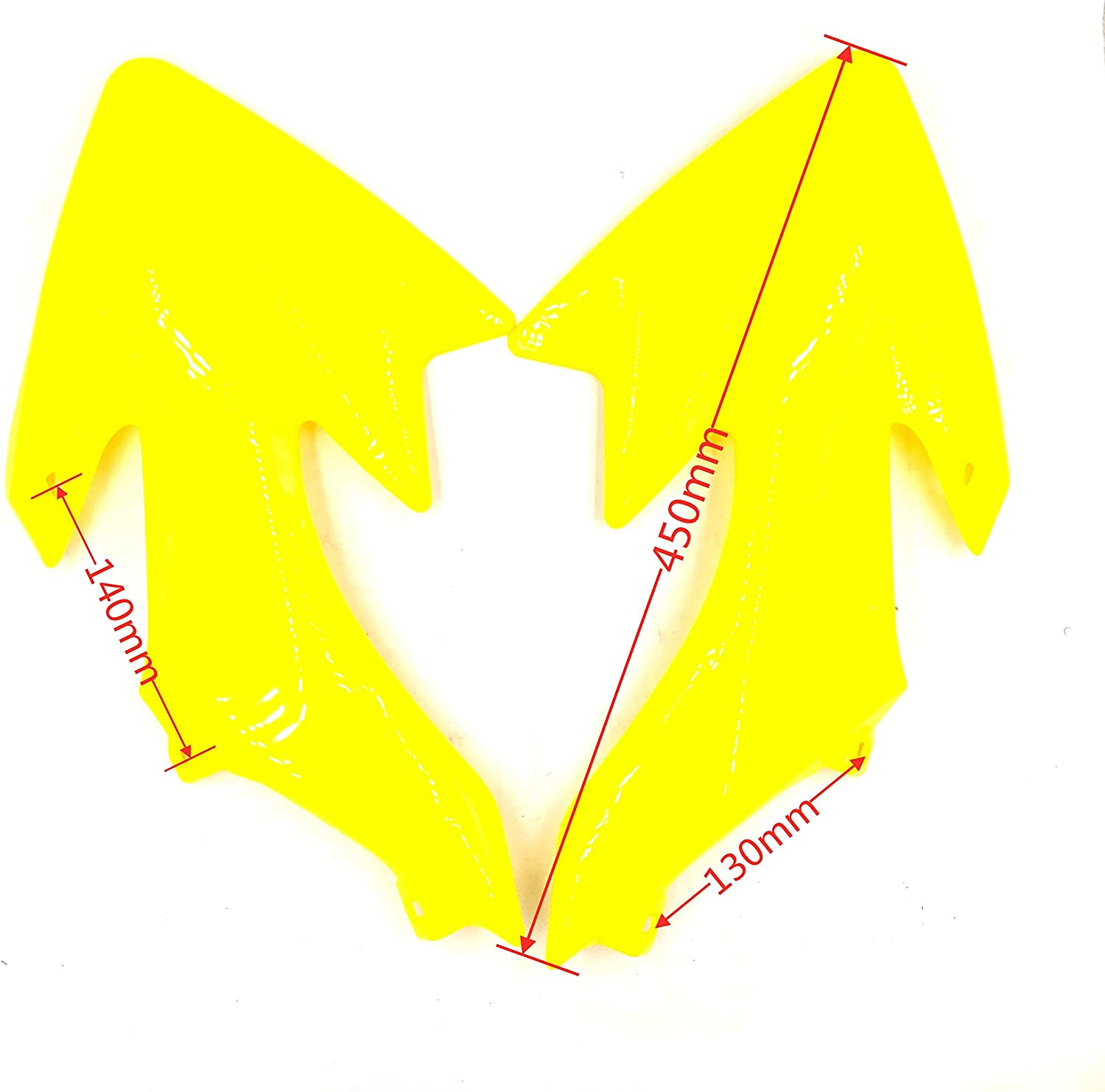hongyu CRF50 Yellow Plastic Body Fender Kit for Chinese CRF XR 50cc Pit Dirt Bikes Including All Mounting Screw