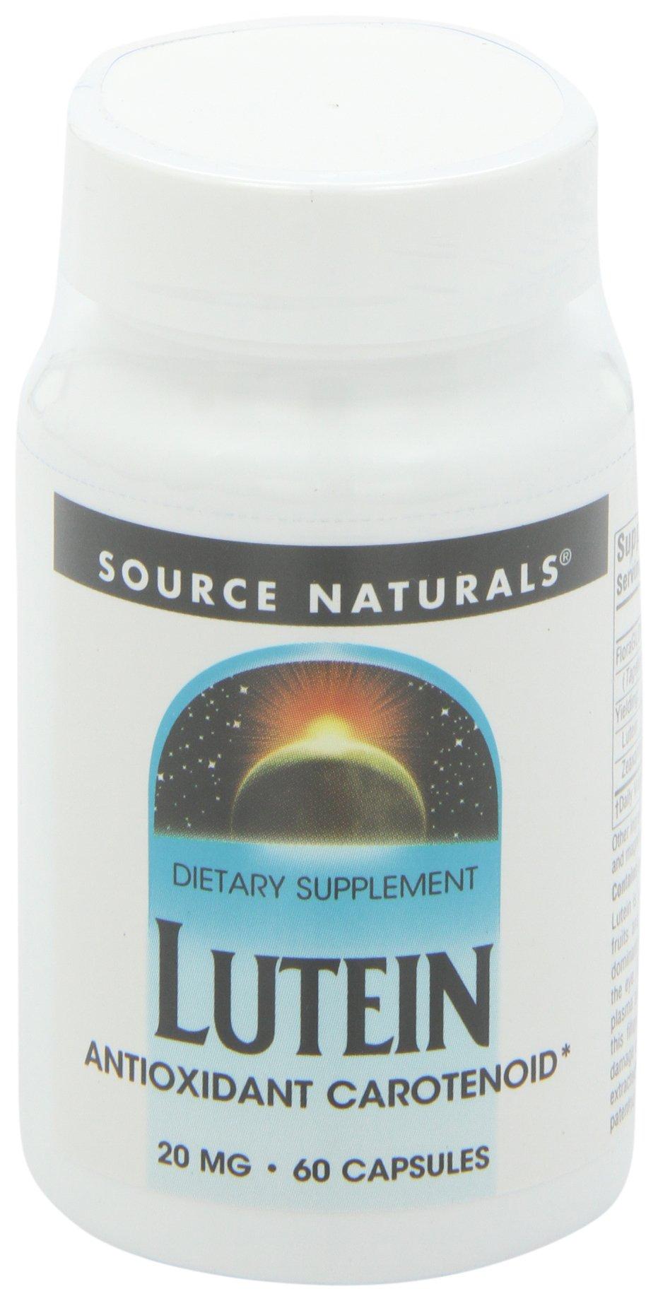 Source Naturals Lutein 20mg, Potent Antioxidant Carotenoid, 60 Capsules