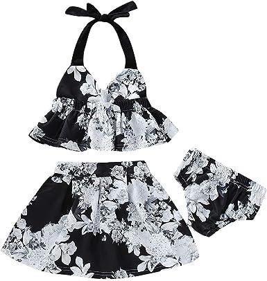 Borlai Toddler Baby Girl Dress Velvet Ruffles Soft Suspender Skirt