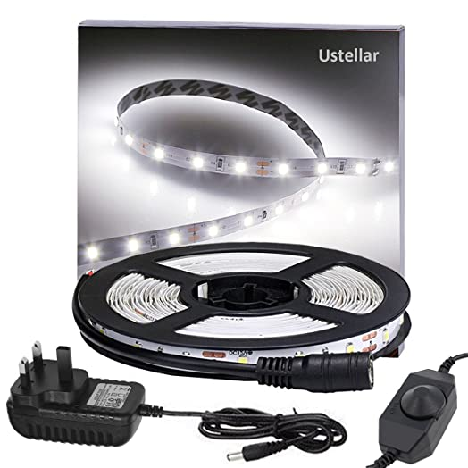 Ustellar dimmable led strip lights kit 5m strip lighting 300 ustellar dimmable led strip lights kit 5m strip lighting 300 units smd 2835 leds mozeypictures Image collections