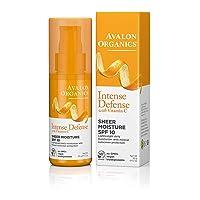 Avalon Organics Intense Defense Sheer Moisture SPF 10 Moisturizer, 1.7 oz.