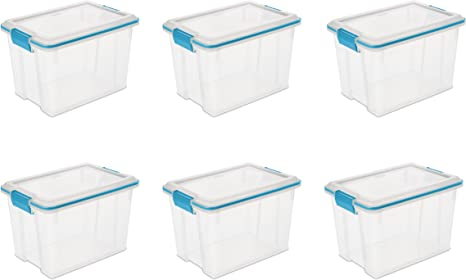 12 Pack Sterilite 19324306 20 Quart Storage Container Box Tote with Latches