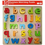 Hape Lowercase Alphabet Stand Up Wooden Toddler Puzzle