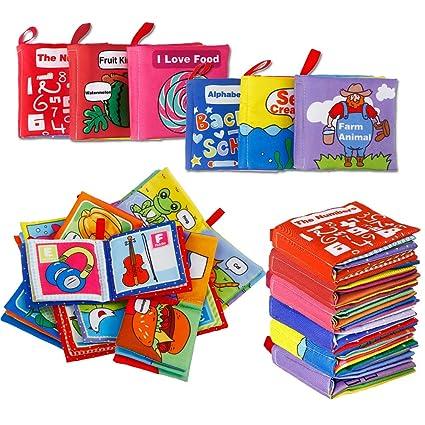 Amazon.com: acekid Baby Cloth Book Primer Libro Suave para ...