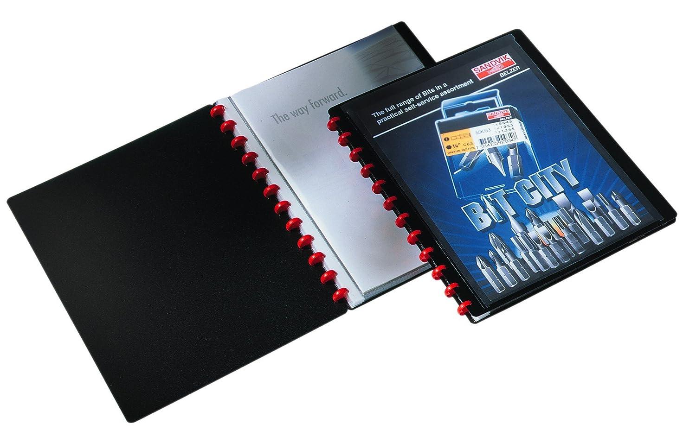 copertina con tasca trasparente 20 buste trasparenti rimovibili portalistino per documenti f.to A4 Duralook Easy Plus DURABLE 242701 nero