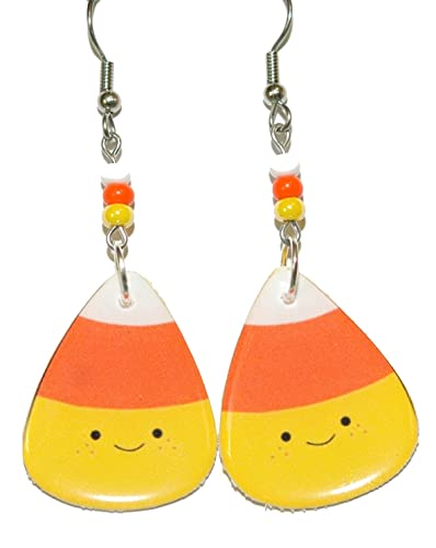 a0683fa63 Image Unavailable. Image not available for. Color: Cute Candy Corn Halloween  Dangle Earrings ...