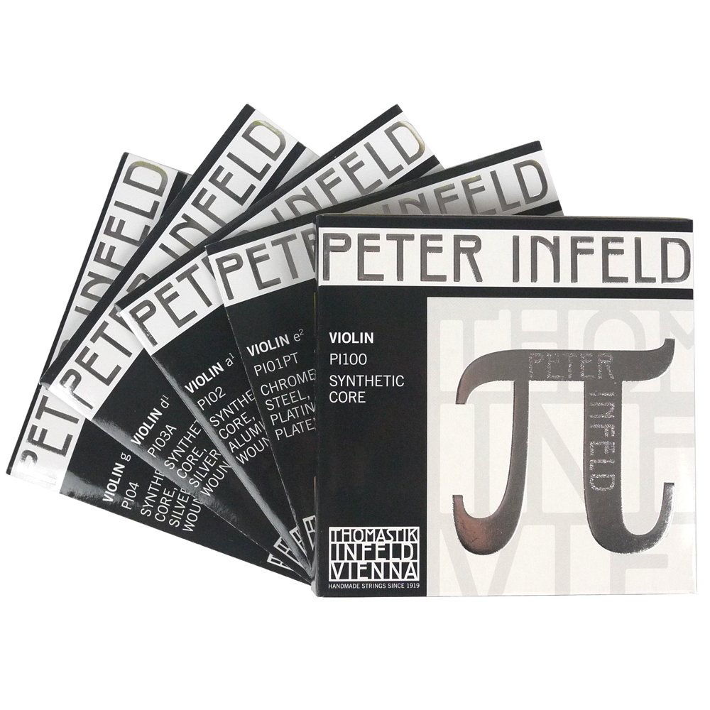 Peter Infeld Violin D String with Synthetic Core Silver Winding Medium Gauge