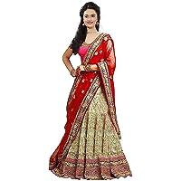 Sr Sales Women's Taffeta Silk Lehenga Choli (Red Diamond Choli _Red Diamond_ Free Size)