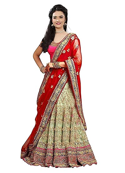 74ab5c09ca Sr Sales Women's Taffeta Silk Lehenga Choli (Red Diamond Choli _Red  Diamond_ Free Size): Amazon.in: Clothing & Accessories